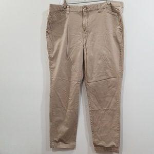Faded glory women's tan 18 A pants